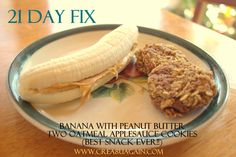 The BEST 21 Day Fix Snack EVER!!!  Totally worth using up a CARB for the cookies in the 21 Day Fix Guide!!