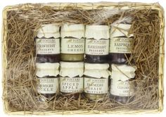 Blueberry Fosters Store Cupboard Minis Hamper @ £16 Gift Hampers, Gift Baskets, Holiday Crafts, Christmas Gifts, Chutney, Preserves, Cupboard, Pickles