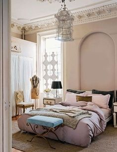 blush colored walls