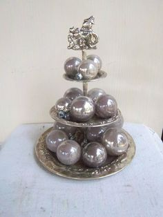Vintage 3Tier Silver Plate Christmas by dogwoodflowerdesigns, $16.00