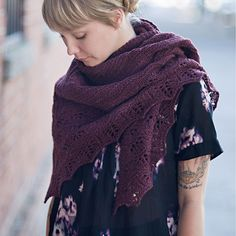 Terra Shawl by Jared Flood, color is Plume.