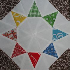 This is the Evening Star, and it is my favorite block! There are seven blocks in the Encyclopedia of Pieced Quilt Patterns that are named Evening Star; I chose block 2736a, which first appeared in...