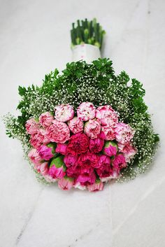 carnations bouquet... I love how they are still budding. Gorgeous!