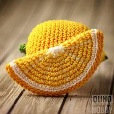LEMON and Lemon SLICE Crochet Pattern PDF  Crochet lemon