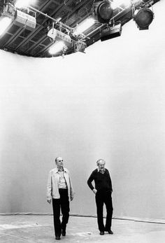 Ingmar Bergman and Sven Nykvist on the set of Fanny and Alexander.