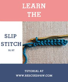 Learn to #Crochet the Slip Stitch!! Easy Step by Step Tutorial!!