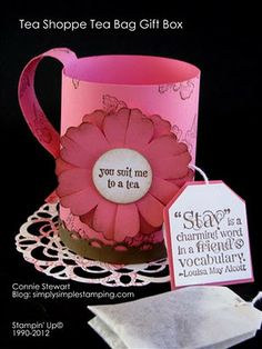 Tea Shoppe from Stampin Up - simplysimplestamping.com