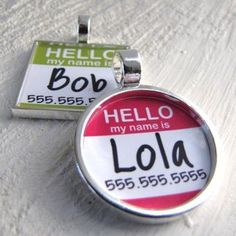 We love this collar tag idea! Remember, you cat or dog should always wear ID in case he/she needs to find their way home!