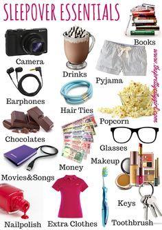 The Pretty City Girl: Sleepover Essentials