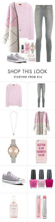 """""""Pink and Gray"""" by kiranightmcneill ❤ liked on Polyvore featuring Missoni, rag & bone, Dorothy Perkins, Chicnova Fashion, Olivia Burton, Kate Spade, Converse, OPI, Herbivore Botanicals and Christian Dior"""