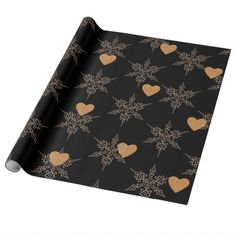 Black Rose Gold Colored Christmas Wrapping Paper - paper gifts presents gift idea customize Glitter Gifts, Gold Gifts, Gold Glitter, Wrapping Paper Crafts, Wrapping Ideas, Gift Wrapping, Paper Gifts, Paper Paper, Christmas Colors