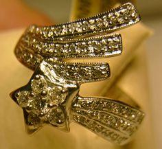 #Sternschnuppe - 585 Weißgold  - Brillanten 0,50ct Qualität W-P1 - Ringweite 56