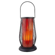 Candle Impressions Indoor Outdoor Flameless Resin Candle Wire Lantern with Auto Timer - Red $18.99