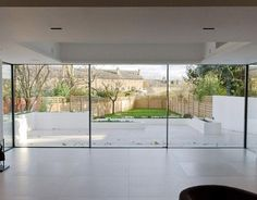 Welcome to Edge Frameless - contemporary extensions using modern frameless glass technology. House Extension Design, Glass Extension, Rear Extension, Extension Ideas, Open Plan Kitchen Living Room, Sliding Patio Doors, Sliding Glass Doors, External Sliding Doors, Sliding Wall