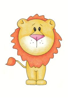 Nursery Wall Art - Lion Modern - 8x10 Illustration. $12.00, via Etsy.
