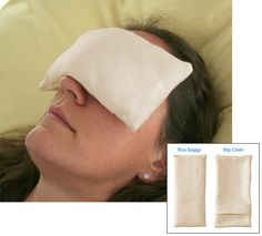 Rebecca's Rice Baggy: soothe your tired, dry eyes, simply and naturally.
