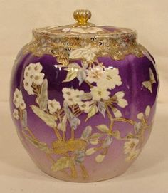 1044: Oriental Molded Decorated Cracker Jar NR - May 23, 2006 | Tom Harris Auctions in IA