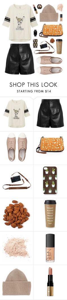 """Bambi"" by nabilaclydea on Polyvore featuring Uniqlo, Balenciaga, FitFlop, Jérôme Dreyfuss, Kate Spade, Hermès, NARS Cosmetics, STELLA McCARTNEY, Bobbi Brown Cosmetics and disney"