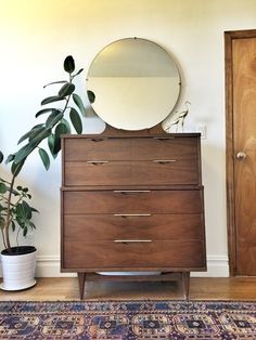 """Mid-century modern """"The Tableau"""" dresser by Kent Coffey in great condition."""
