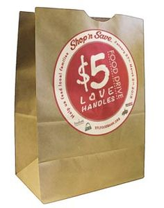 Shop 'n Save just launched their Love Handles Food Drive. Now through March 2, 2013, you can stop by any St. Louis area Shop 'n Save location and share a little love by purchasing a bag of food donations.  Love Handles Food Drive #STL