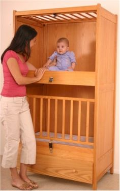 Two Unit Infant Bunkie Crib - Bunk Bed Style Crib - with Drop Gate - 2 Mattresses Included - - Easy Crib Shopper