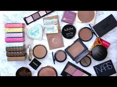 Decluttering My Makeup Collection 2016 | Bronzers | Beauty with Emily Fox - YouTube
