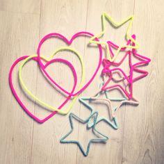 tricotin, mot en laine, mot enlainé, prénom en laine, étoile, star, coeur, heart, charlie&june