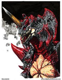 Destroyah Godzilla Erik Johnson Illustrator: Michigan Comics Collective