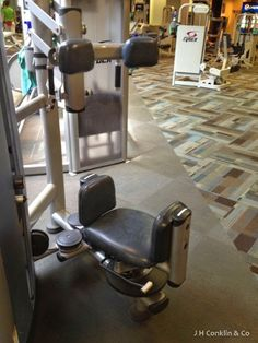 Exercise equipment reupholstered in a vinyl-like material that is more puncture resistant than standard vinyls.