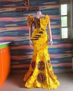 African Fashion Ankara, Latest African Fashion Dresses, African Print Fashion, Africa Fashion, Ethnic Fashion, Long African Dresses, African Clothes, Unique Ankara Styles, African Fashion Traditional