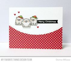 Stamps: Bitty Bears Die-namics: Bitty Bears, Stitched Scallop Basic Edges, Deer Love Donna Mikasa #mftstamps
