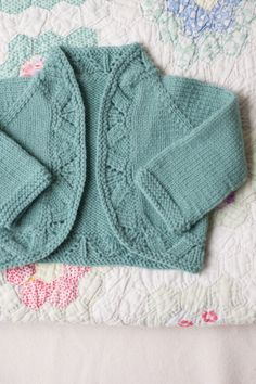mae cardigan / wool baby collection by melissa labarre / in quince & co. chickadee
