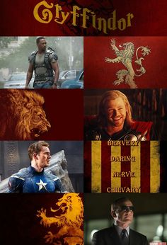 Avengers sorted into their own houses...