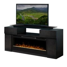 I wish this fit! Dimplex Concord TV Stand with Electric Fireplace with Glass Embers - Black*