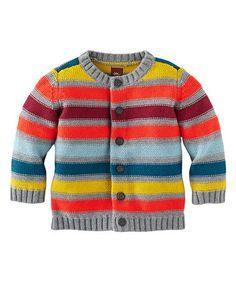 Look what I found on #zulily! Dark Gray Heather Murnau Stripe Cardigan - Infant by Tea Collection #zulilyfinds