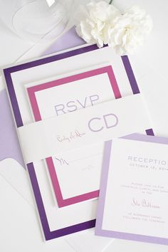 Purple not your color? Ask us how we can customize our Modern Luxe Wedding Invitations Suite to match your wedding colors!