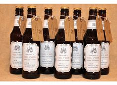 beer bottle invitations - like the tags