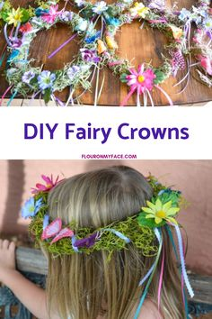 How to make a DIY Fairy Crown for a little girls Woodland Fairy Themed Birthday Party DIY Woodland Fairy Crowns are perfect for a fairy birthday party, a fairy tea party or just for fun when you want to feel special like a fairy princess. Butterfly Birthday Party, Fairy Birthday Party, Garden Birthday, 5th Birthday, Girl Birthday Party Themes, Diy Birthday Crown, Birthday Ideas, Butterfly Garden Party, Birthday Parties