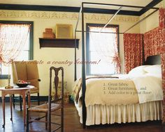 Create Country Bedroom Decoration Early American Floorcloths