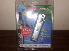 3 in 1 Digital Camera, Digital Camcorder & PC Cam! AIPTEK(1024X768 Res) FREE SHIPPING! XP-98-ME-2000