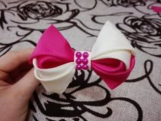 двухцветный бант,DIY\ Laço De Fita Cetim\the ribbon bows - YouTube