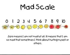 Mad Scale Therapy Ideas, Counseling, Periodic Table, It Hurts, Mad, Scale, Chart, Creative, Weighing Scale