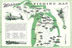 Michigan fish habitats Boys Fishing Room, Boy Fishing, Fishing Maps, Roadside Attractions, Northern Michigan, Travel And Tourism, Cartography, Habitats, Adventure