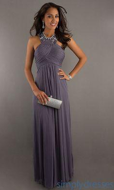 High Neck Halter Evening Gown, Long Halter Dress - Simply Dresses