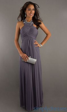 High Neck Halter Evening Gown, Long Halter Dress - Simply Dresses