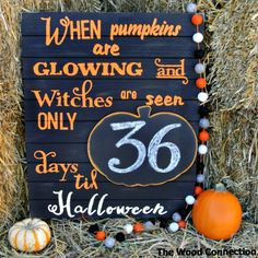 Halloween Countdown Sign - The Wood Connection Blog