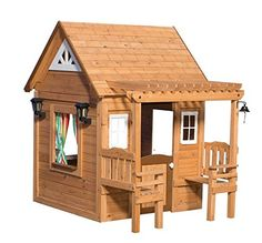 Pre-Stained 100% Natural Cedar Wood Outdoor CASCADE Playhouse w/ Pergola Leisure Time Products http://www.amazon.com/dp/B01A1DVJPA/ref=cm_sw_r_pi_dp_mMS-wb0V61ZPS