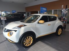 The Nissan Juke sure is sharp! This one is decked out in yellow details but you can get them customized to fit your personal style tomhessernissan.com