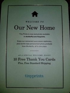 Check Your Mail/Email! Score 10 FREE Thank You Cards & FREE Shipping From Tiny Prints!