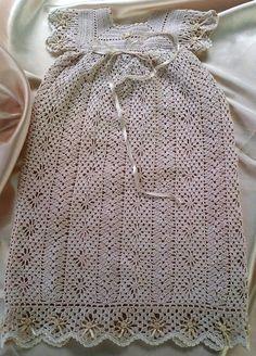 Thread Crochet Heirloom Christening Gown. $75.00, via Etsy.